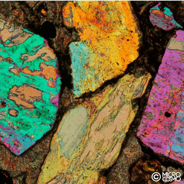 arenaria dolomitica al microscopio polarizzatore